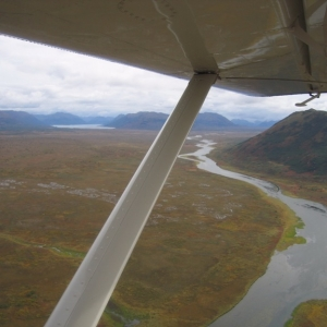 FLYING OVER THE KARLUK RIVER