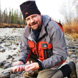 TOM AND A DOLLY VARDEN OUT OF THE ANCHOR RIVER