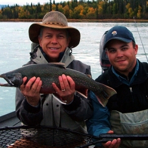BEAUTIFUL DOLLY VARDEN CAUGHT ON THE MIDDLE KENAI RIVER