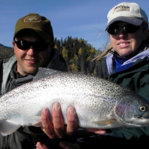 BEAUTIFUL RAINBOWS ON THE UPPER KENAI RIVER
