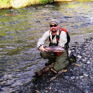 SMALL RIVER RAINBOW TROUT FISHING