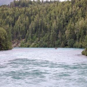 kenai river power line