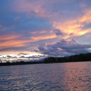 skilak lake sunset 2