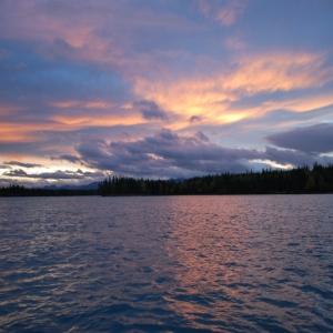 skilak lake sunset