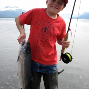 KIDS AND SILVER Salmon fishing